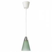РЕСТАД Подвесной светильник,конусообразный,зеленый